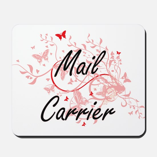 Mail Carrier Artistic Job Design with Bu Mousepad