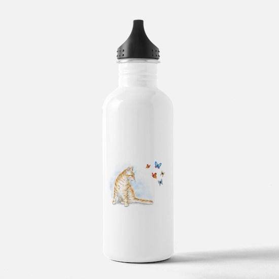 Cat 616 butterfly Water Bottle