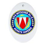 USS Mitscher (DL 2) Oval Ornament