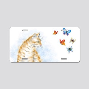 Cat 616 butterfly Aluminum License Plate