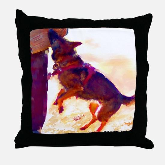 German Shepherd Protect 3 Throw Pillow