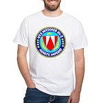 USS Mitscher (DL 2) White T-Shirt