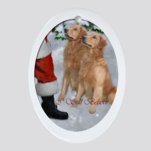 Golden Retriever Christmas Ornament (Oval)