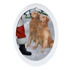 Golden Retriever Christmas Ornament (Oval)