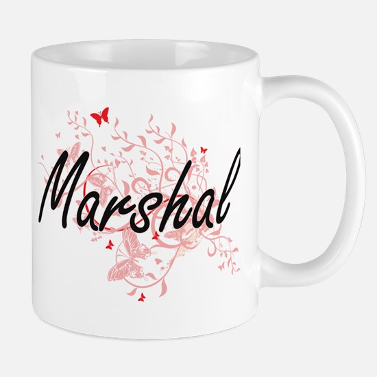 Marshal Artistic Job Design with Butterflies Mugs