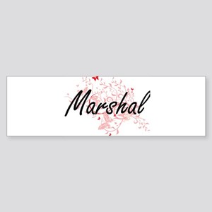 Marshal Artistic Job Design with Bu Bumper Sticker