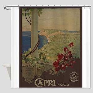 Vintage poster - Capri Shower Curtain