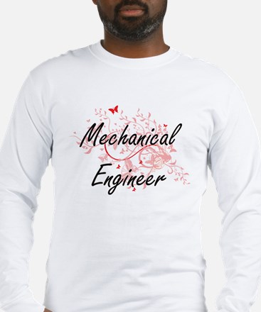 Mechanical Engineer Artistic J Long Sleeve T-Shirt