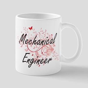 Mechanical Engineer Artistic Job Design with Mugs