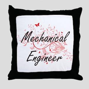 Mechanical Engineer Artistic Job Desi Throw Pillow