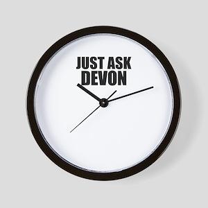 Just ask DEVON Wall Clock