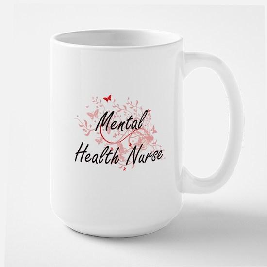 Mental Health Nurse Artistic Job Design with Mugs