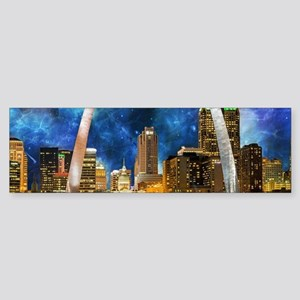 Spacey St. Louis Skyline Bumper Sticker