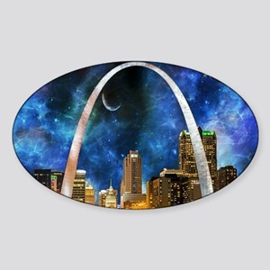 Spacey St. Louis Skyline Sticker