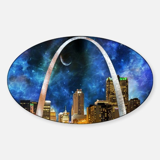 Spacey St. Louis Skyline Decal