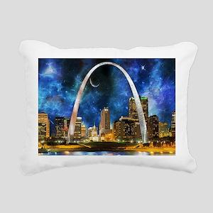 Spacey St. Louis Skyline Rectangular Canvas Pillow