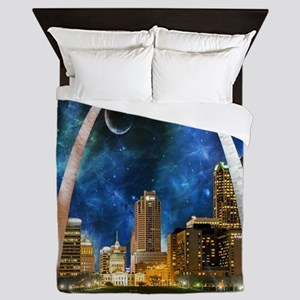 Spacey St. Louis Skyline Queen Duvet