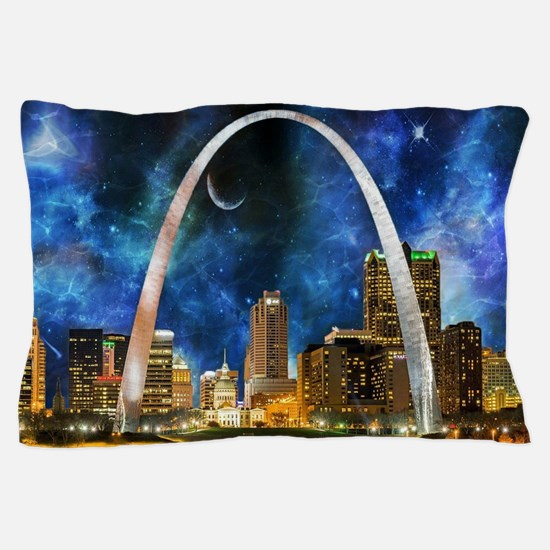 Spacey St. Louis Skyline Pillow Case