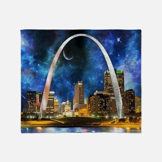 Spacey St. Louis Skyline Throw Blanket