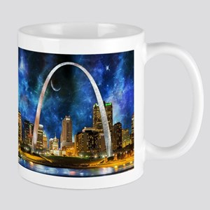 Spacey St. Louis Skyline Mugs