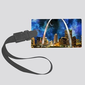 Spacey St. Louis Skyline Luggage Tag