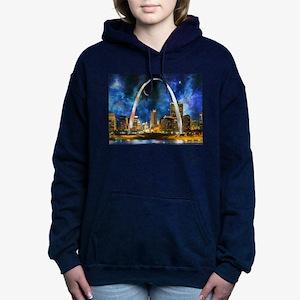Spacey St. Louis Skyline Women's Hooded Sweatshirt