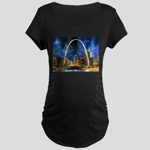 Spacey St. Louis Skyline Maternity T-Shirt