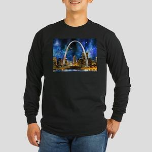 Spacey St. Louis Skyline Long Sleeve T-Shirt