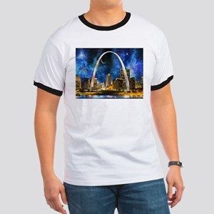 Spacey St. Louis Skyline T-Shirt