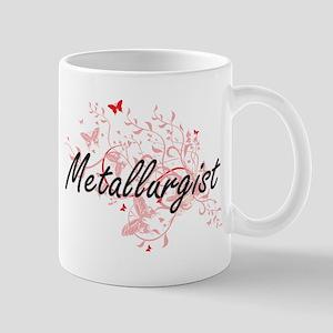 Metallurgist Artistic Job Design with Butterf Mugs