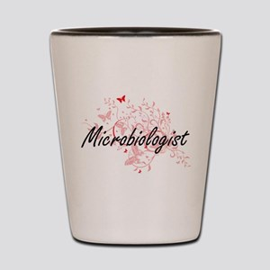 Microbiologist Artistic Job Design with Shot Glass