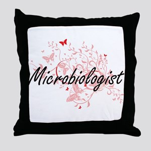 Microbiologist Artistic Job Design wi Throw Pillow