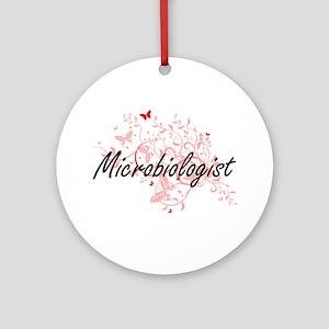 Microbiologist Artistic Job Design Round Ornament