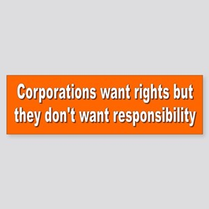 CORPORATIONS Bumper Sticker