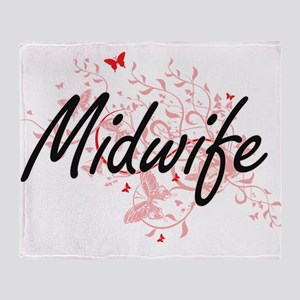 Midwife Artistic Job Design with But Throw Blanket