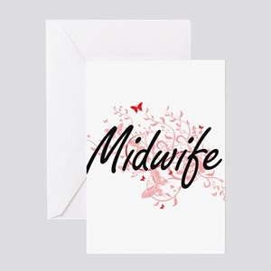 Midwife Artistic Job Design with Bu Greeting Cards
