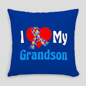 Autism Grandson Everyday Pillow