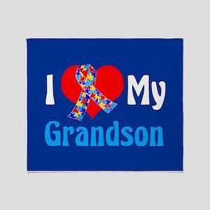Autism Grandson Throw Blanket