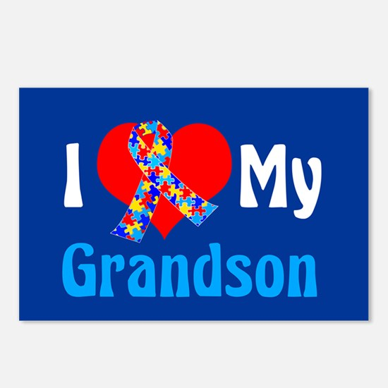 Autism Grandson Postcards (Package of 8)