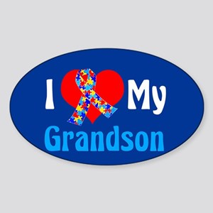 Autism Grandson Sticker (Oval)