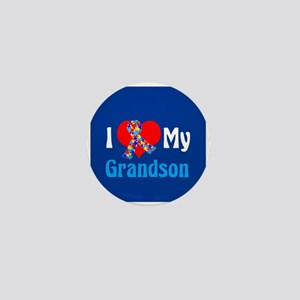 Autism Grandson Mini Button