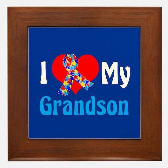Autism Grandson Framed Tile