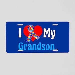 Autism Grandson Aluminum License Plate