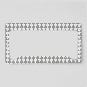 Grey, Fog: Triangle Arrows Pa License Plate Holder
