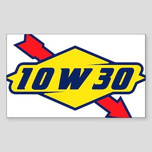 10W30 Rectangle Sticker