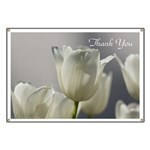 White Tulips Thank you Banner
