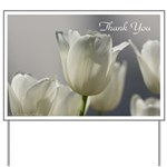 White Tulips Thank you Yard Sign