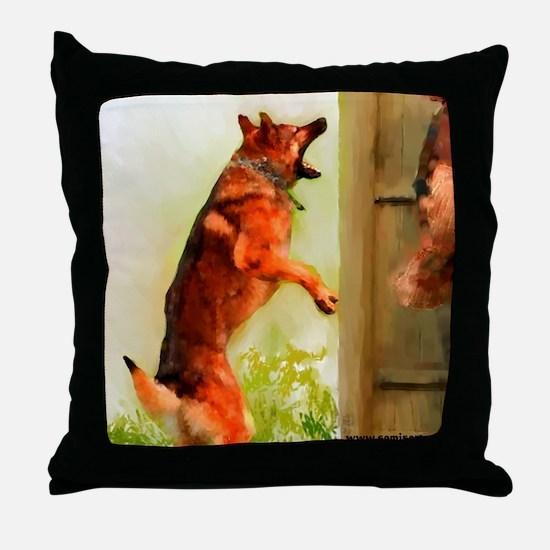 German Shepherd Protect 2 Throw Pillow