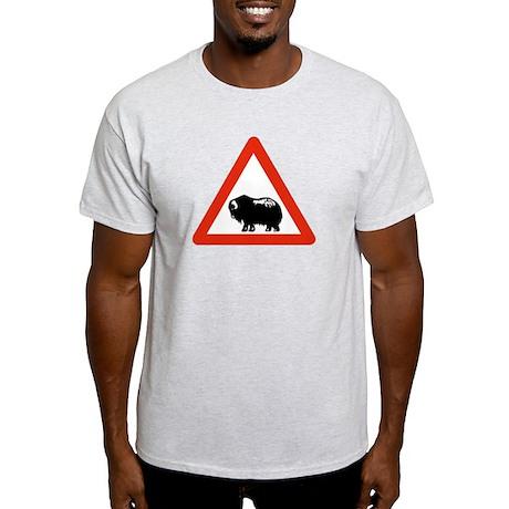 Caution Musk Oxen, Greenland Light T-Shirt