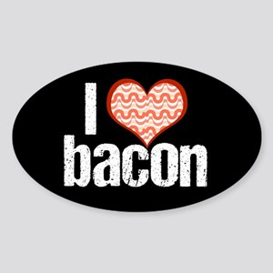 I Heart Bacon Sticker (Oval)